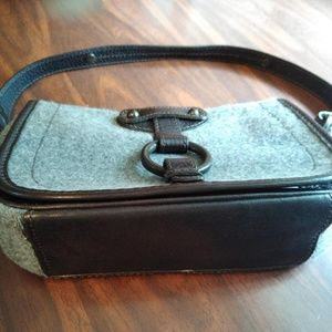 Banana Republic Wool and Leather Shoulder Bag